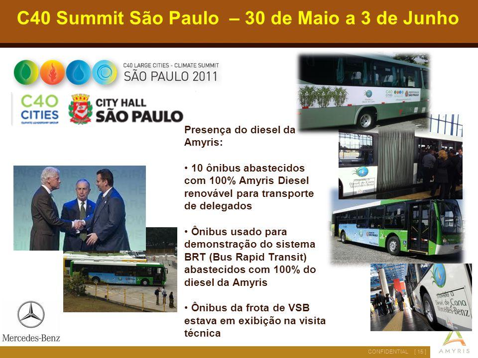 C40 Summit São Paulo – 30 de Maio a 3 de Junho