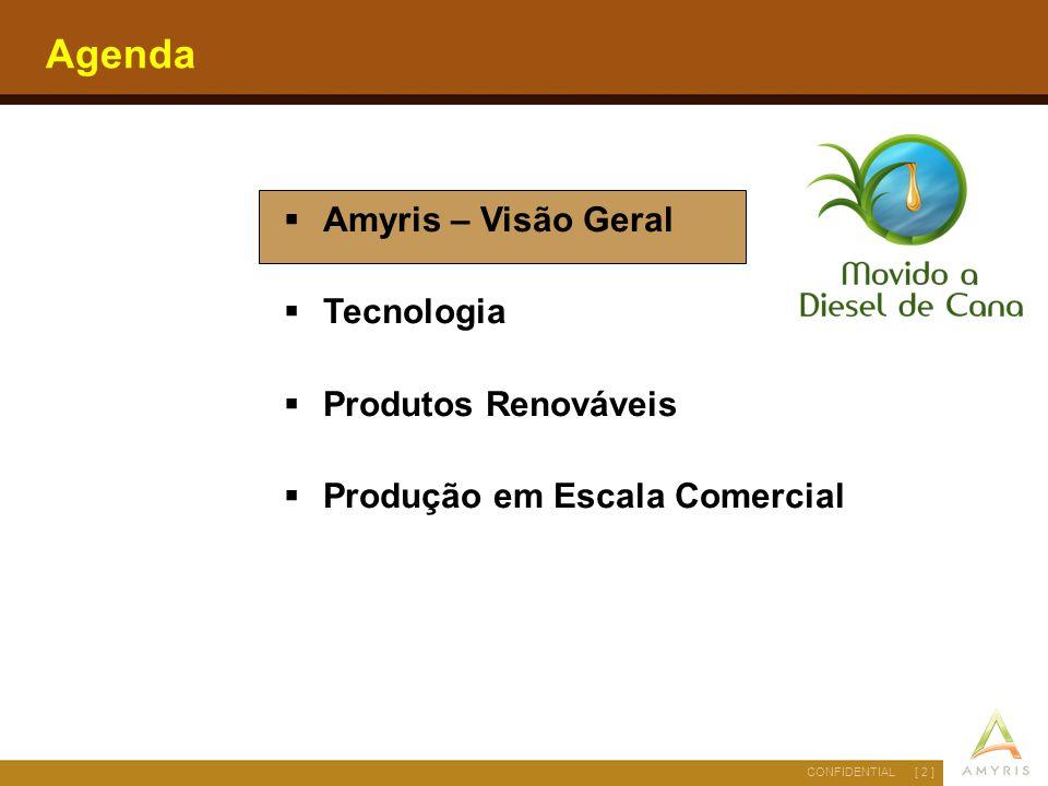 Agenda Amyris – Visão Geral Tecnologia Produtos Renováveis
