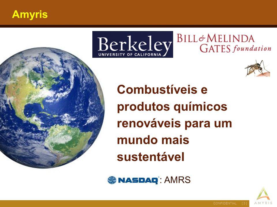 Amyris Combustíveis e produtos químicos renováveis para um mundo mais sustentável : AMRS