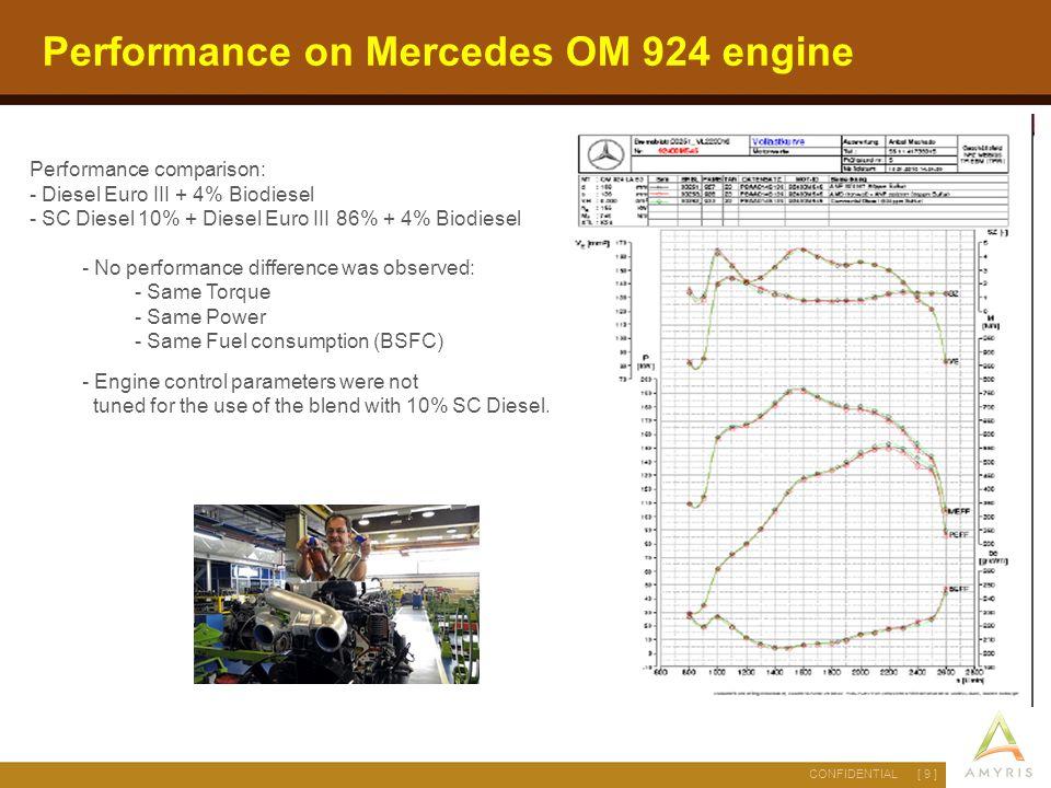 Performance on Mercedes OM 924 engine