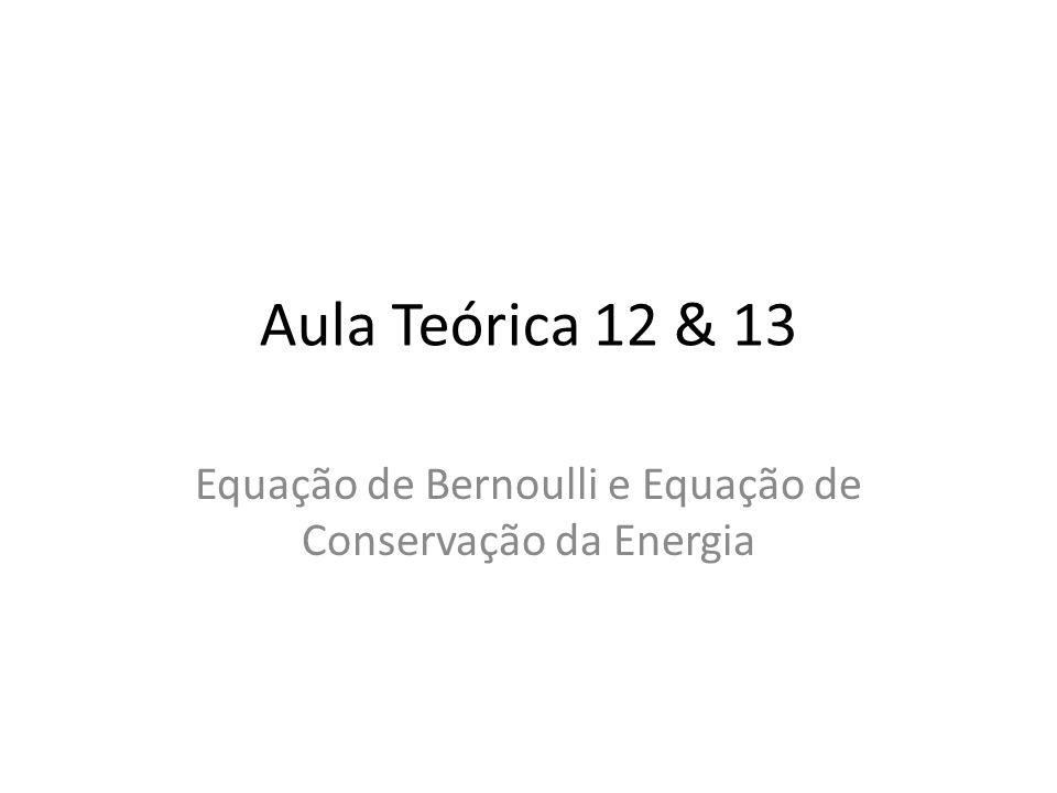 Equação de Bernoulli e Equação de Conservação da Energia