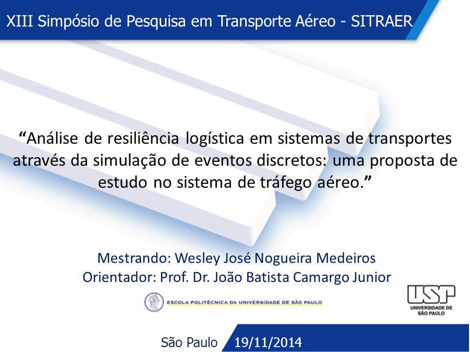 XIII Simpósio de Pesquisa em Transporte Aéreo - SITRAER
