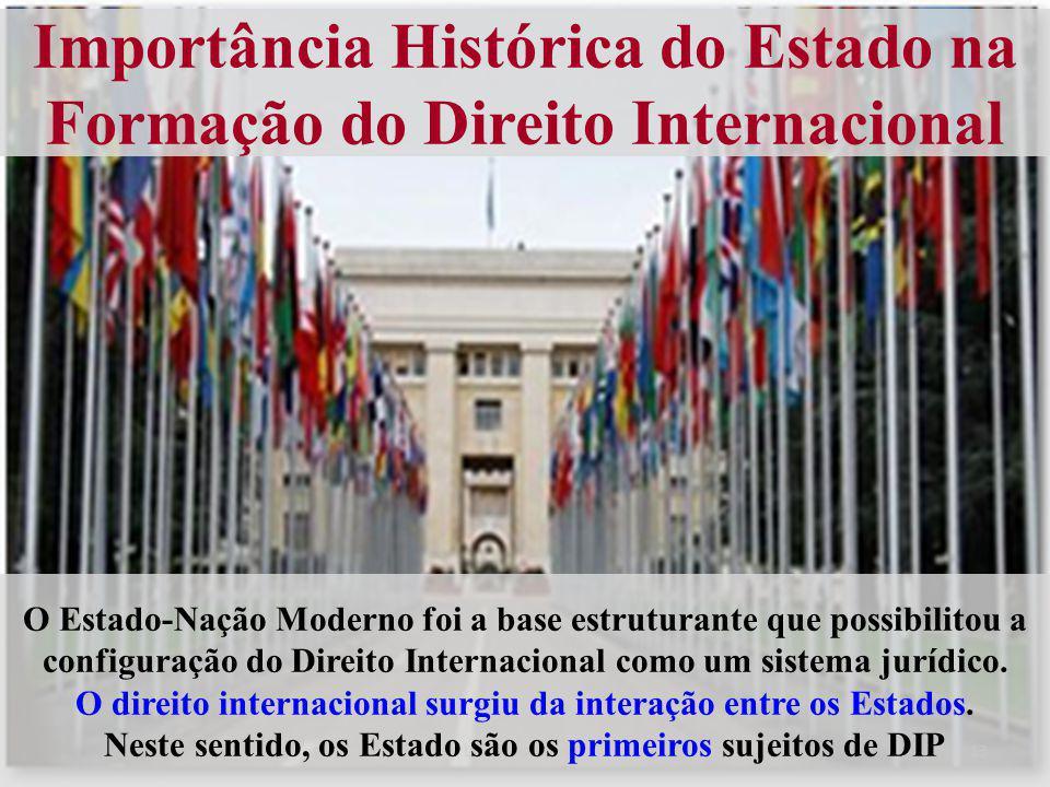 Importância Histórica do Estado na Formação do Direito Internacional