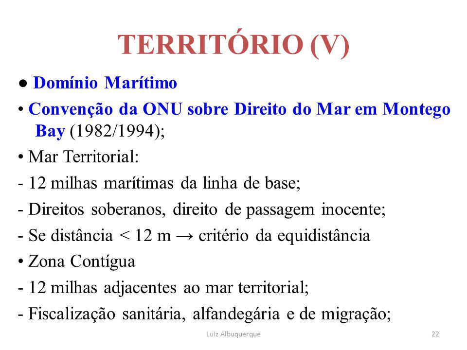 TERRITÓRIO (V) ● Domínio Marítimo