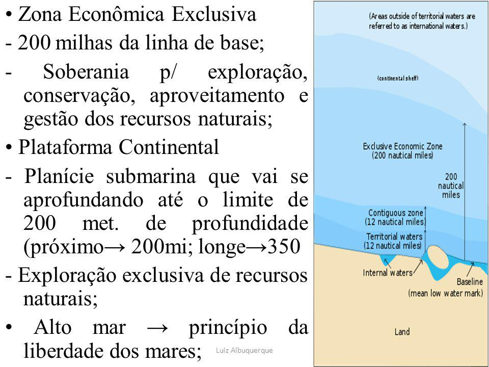 • Zona Econômica Exclusiva - 200 milhas da linha de base;