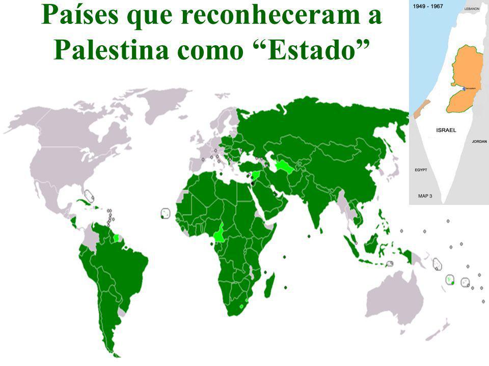 Países que reconheceram a Palestina como Estado