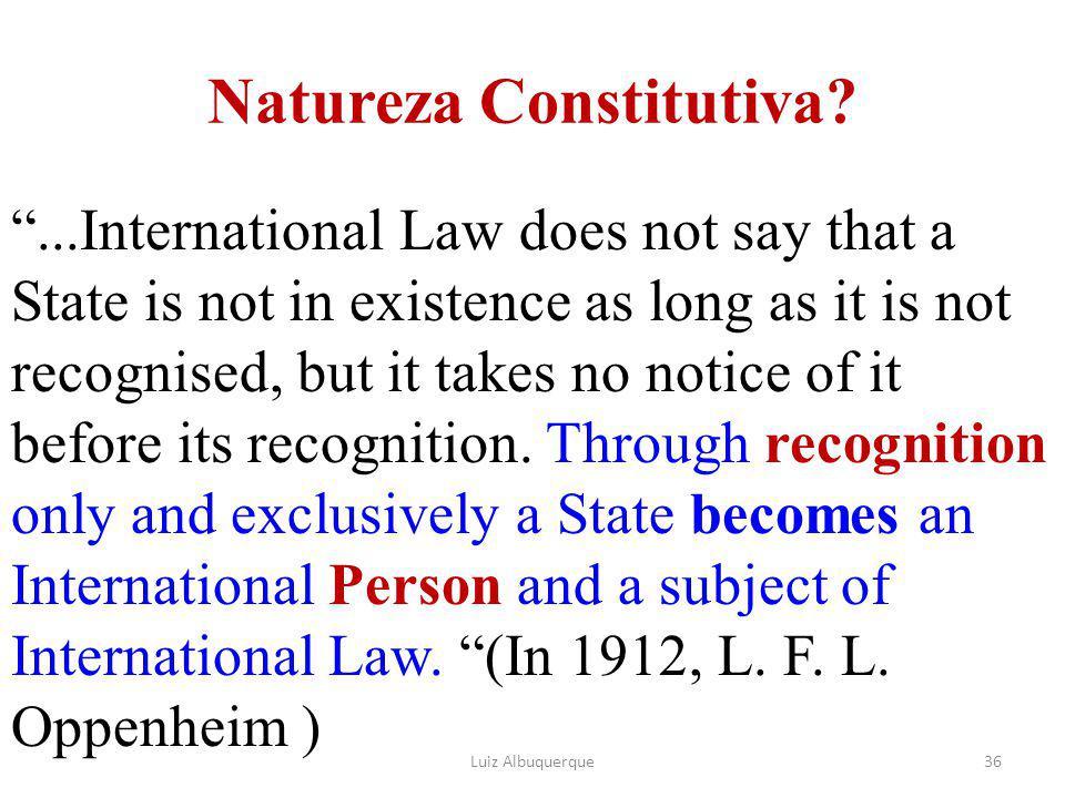 Natureza Constitutiva