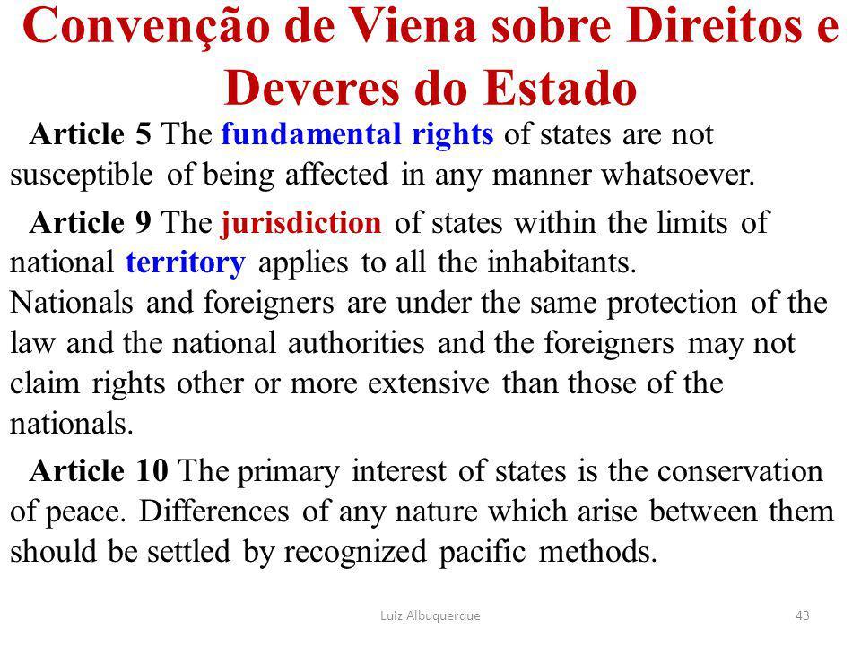 Convenção de Viena sobre Direitos e Deveres do Estado