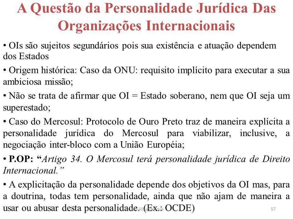A Questão da Personalidade Jurídica Das Organizações Internacionais