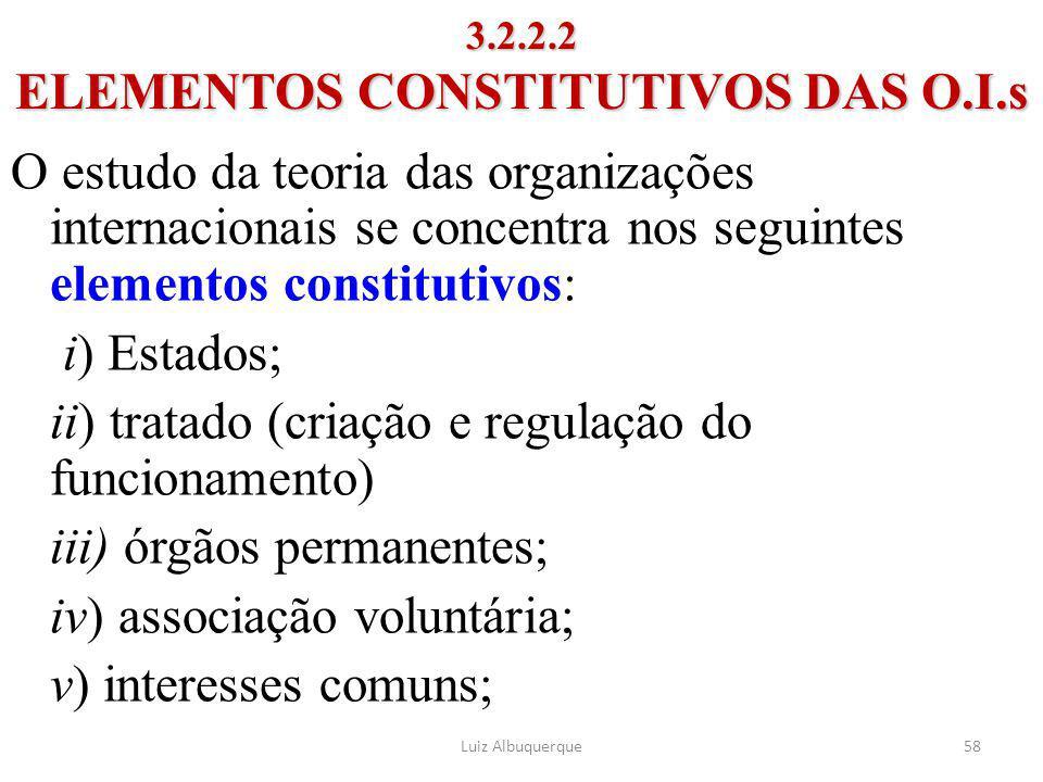 3.2.2.2 ELEMENTOS CONSTITUTIVOS DAS O.I.s