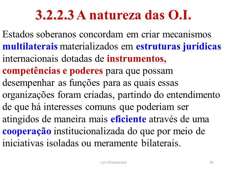 3.2.2.3 A natureza das O.I.