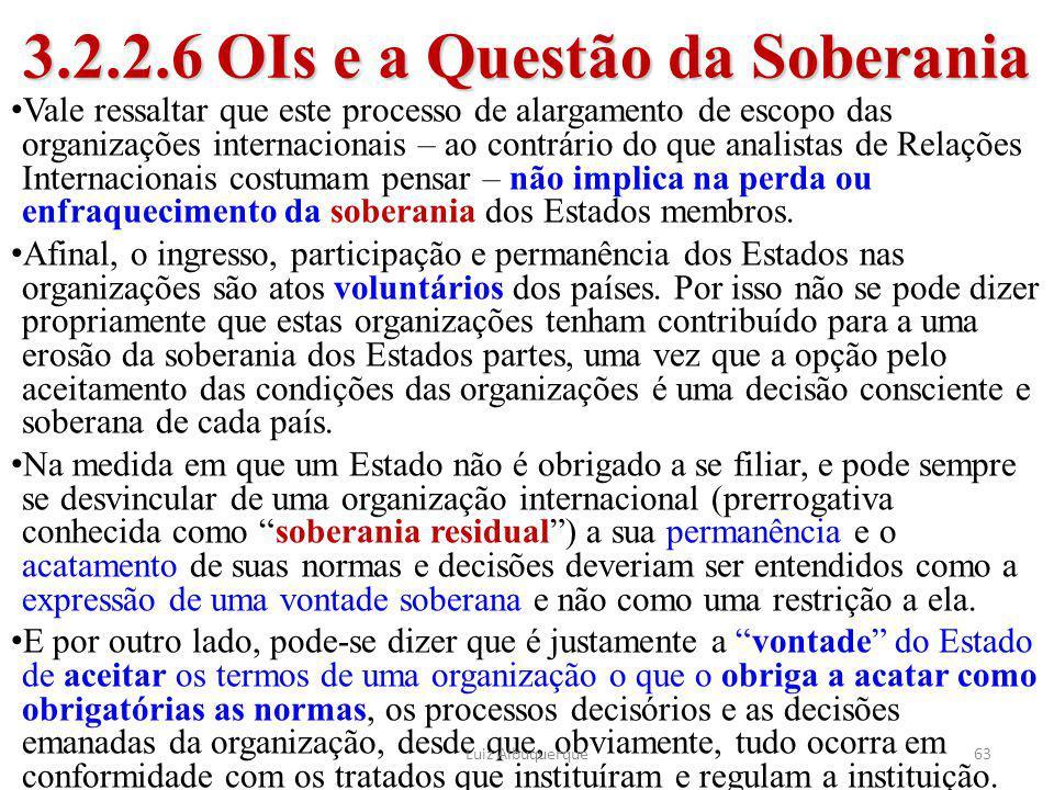 3.2.2.6 OIs e a Questão da Soberania