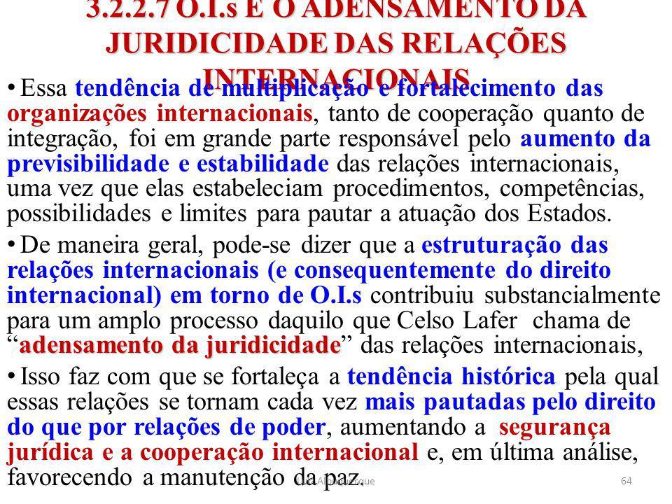 3.2.2.7 O.I.s E O ADENSAMENTO DA JURIDICIDADE DAS RELAÇÕES INTERNACIONAIS