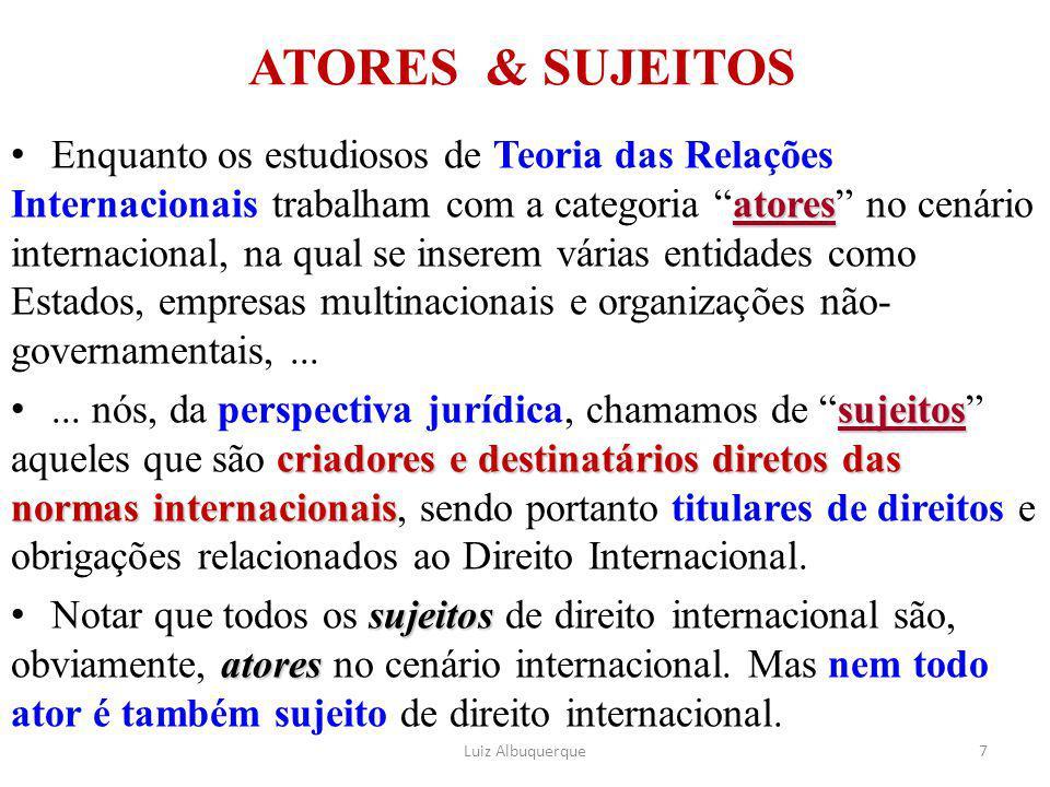 ATORES & SUJEITOS