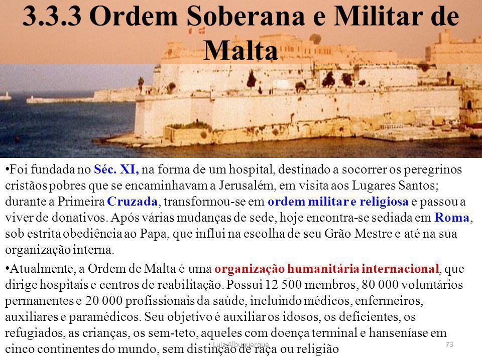 3.3.3 Ordem Soberana e Militar de Malta