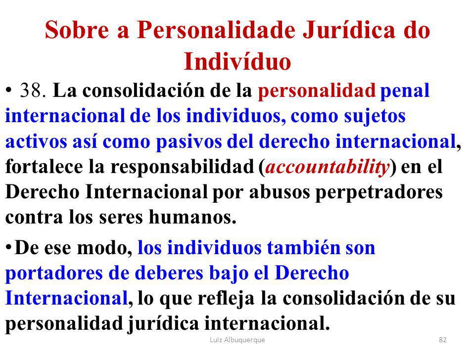 Sobre a Personalidade Jurídica do Indivíduo