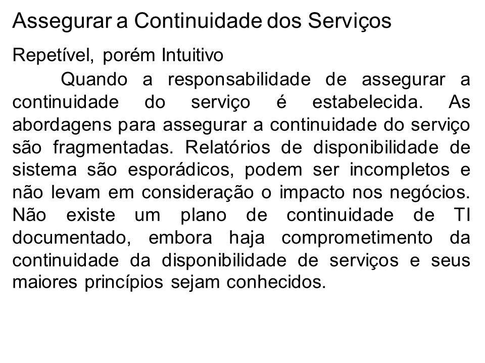 Assegurar a Continuidade dos Serviços