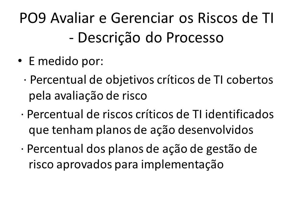 PO9 Avaliar e Gerenciar os Riscos de TI - Descrição do Processo