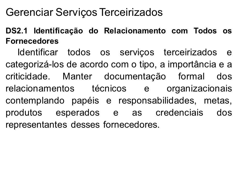 Gerenciar Serviços Terceirizados