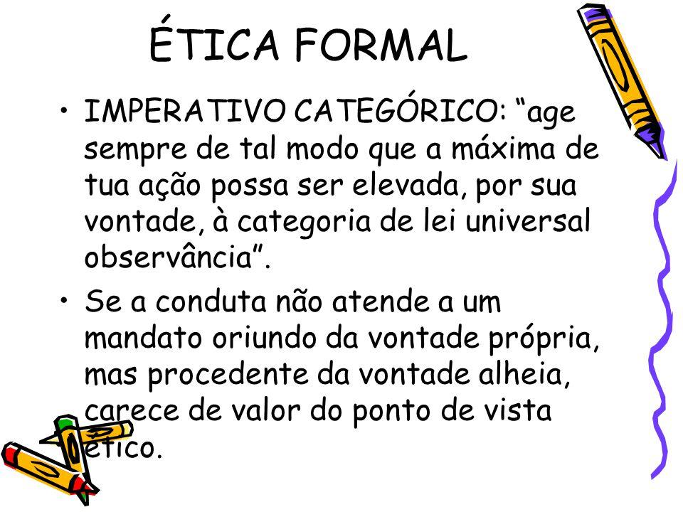 ÉTICA FORMAL