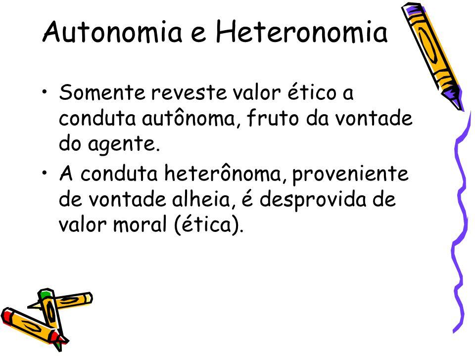 Autonomia e Heteronomia