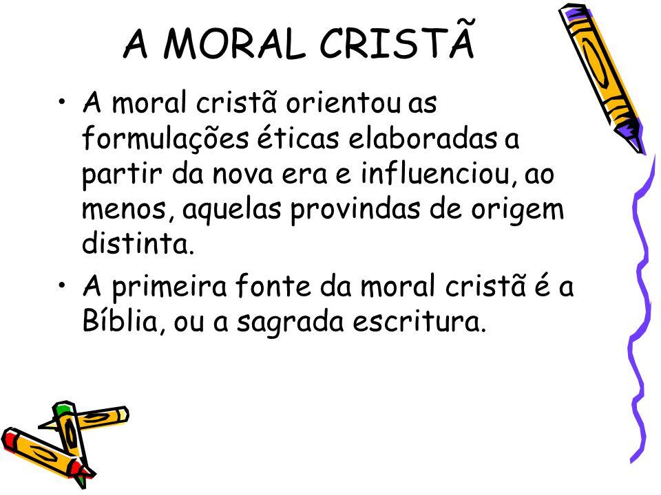 A MORAL CRISTÃ
