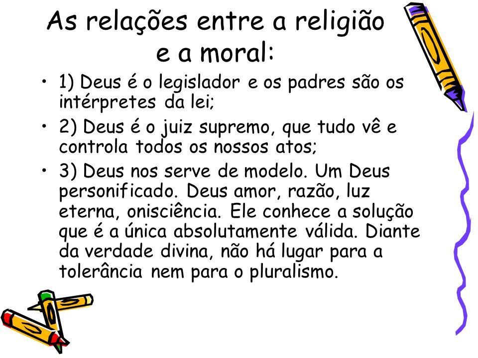 As relações entre a religião e a moral: