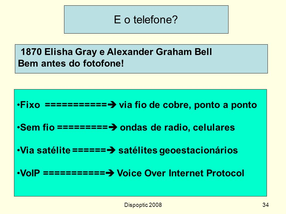 E o telefone 1870 Elisha Gray e Alexander Graham Bell