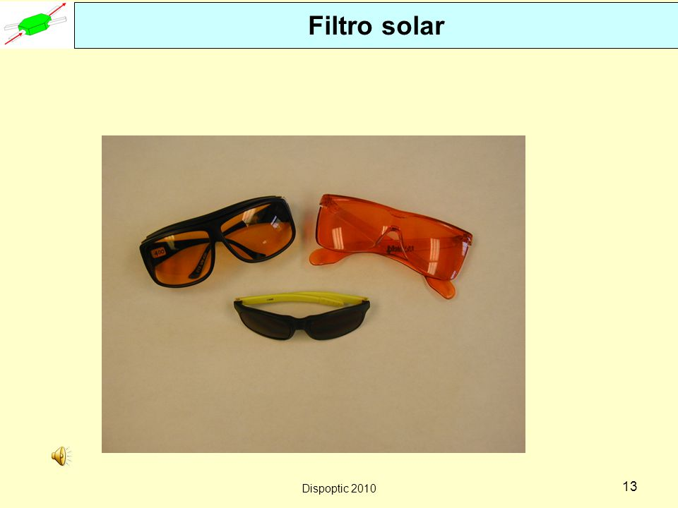 Filtro solar Dispoptic 2010