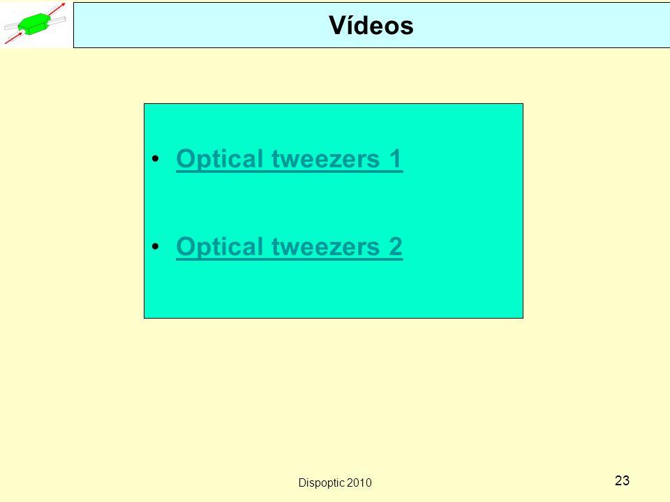 Vídeos Optical tweezers 1 Optical tweezers 2 Dispoptic 2010