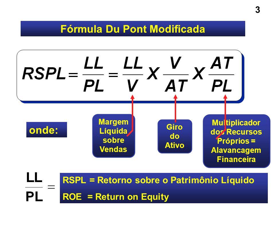 RSPL = MARGEM X GIRO X ALAVANCAGEM DE LUCRO DO ATIVO FINANCEIRA