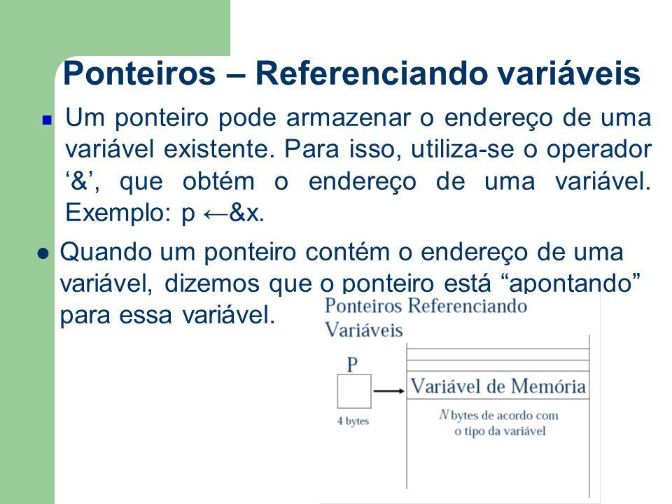 Ponteiros – Referenciando variáveis