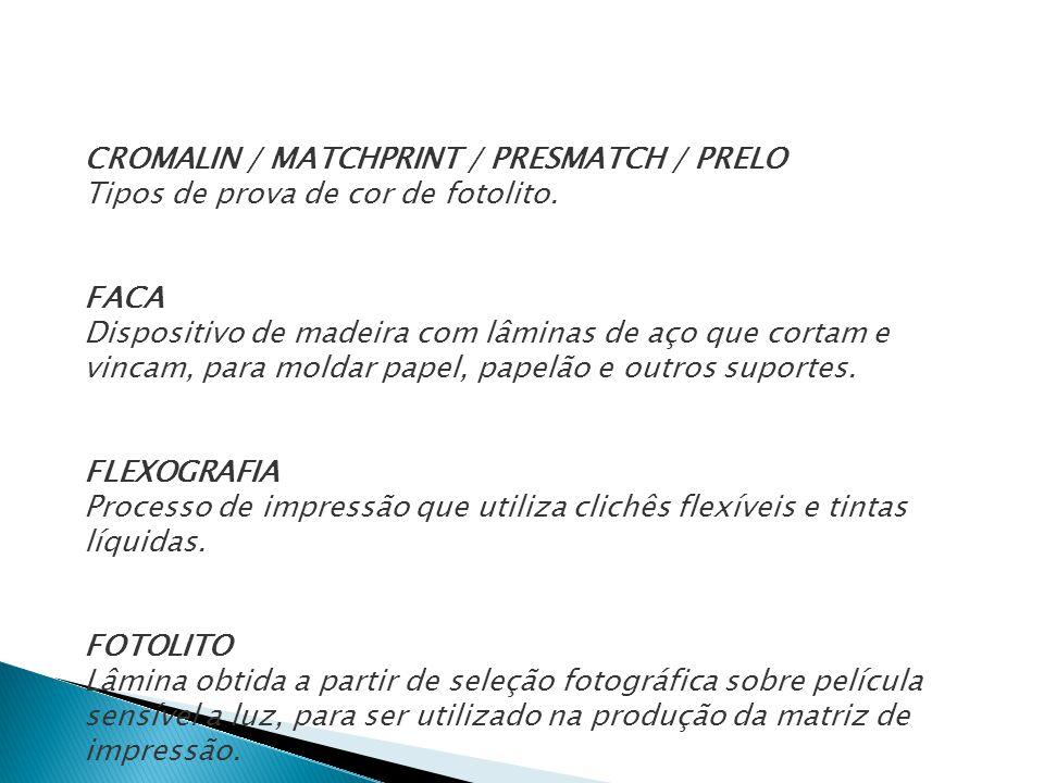 CROMALIN / MATCHPRINT / PRESMATCH / PRELO