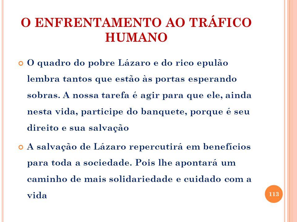 O ENFRENTAMENTO AO TRÁFICO HUMANO