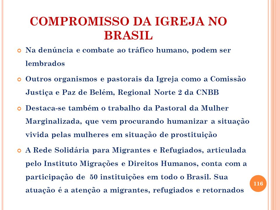 COMPROMISSO DA IGREJA NO BRASIL
