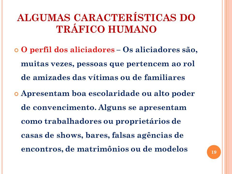 ALGUMAS CARACTERÍSTICAS DO TRÁFICO HUMANO