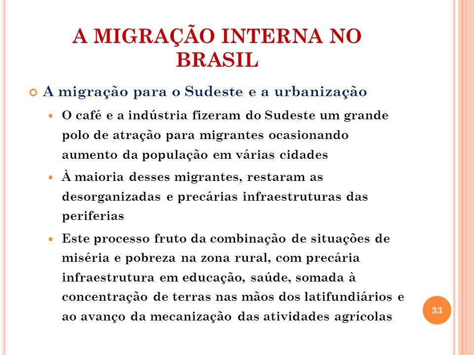 A MIGRAÇÃO INTERNA NO BRASIL