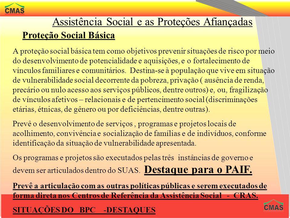 Assistência Social e as Proteções Afiançadas