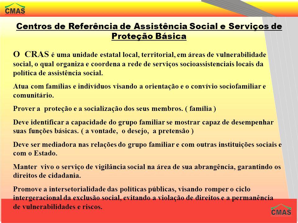 Centros de Referência de Assistência Social e Serviços de Proteção Básica