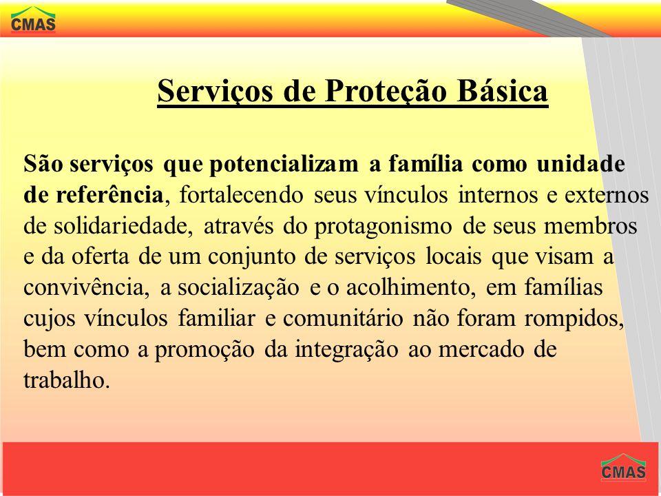 Serviços de Proteção Básica