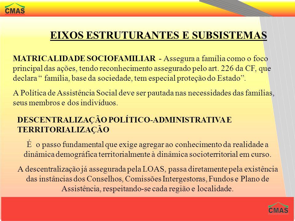 EIXOS ESTRUTURANTES E SUBSISTEMAS