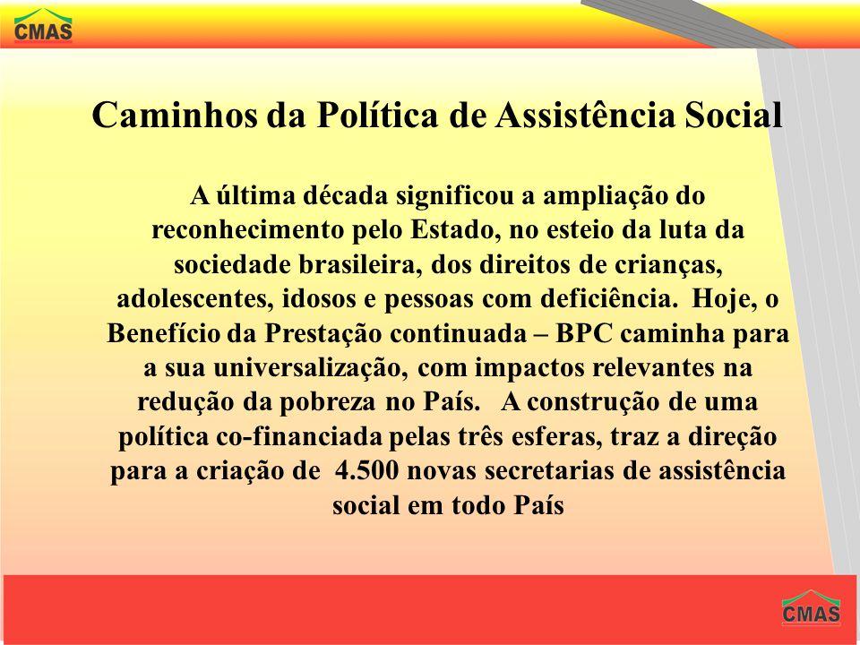 Caminhos da Política de Assistência Social