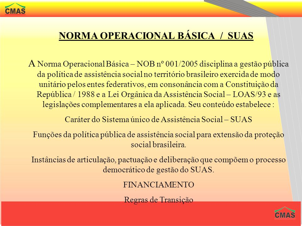 NORMA OPERACIONAL BÁSICA / SUAS