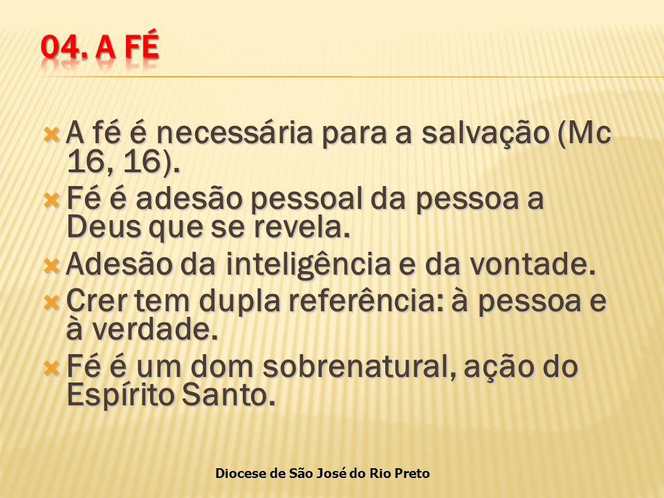 A fé é necessária para a salvação (Mc 16, 16).
