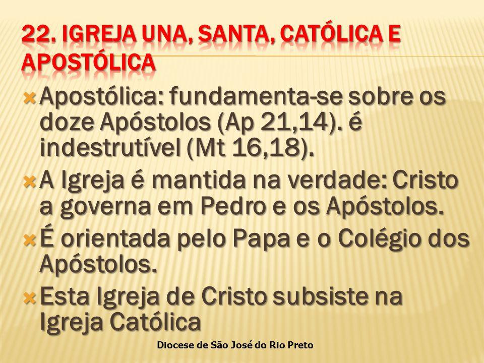 22. IGREJA UNA, SANTA, CATÓLICA E APOSTÓLICA