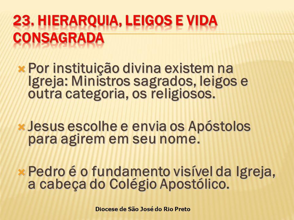23. HIERARQUIA, LEIGOS E VIDA CONSAGRADA