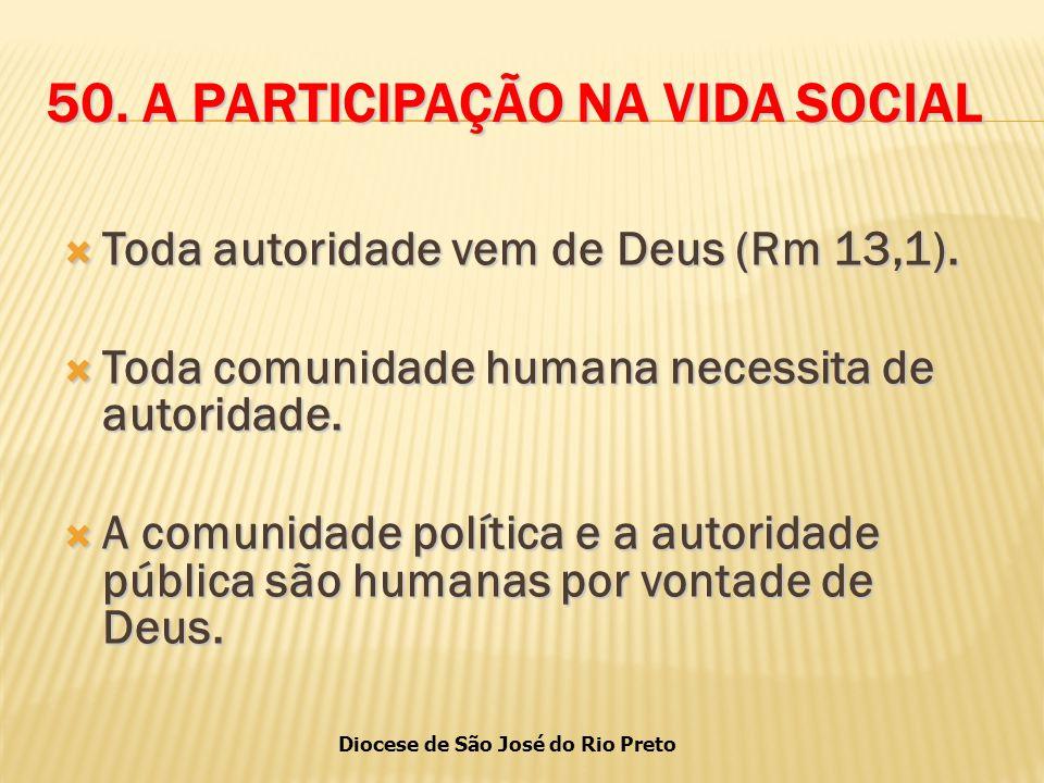50. A PARTICIPAÇÃO NA VIDA SOCIAL