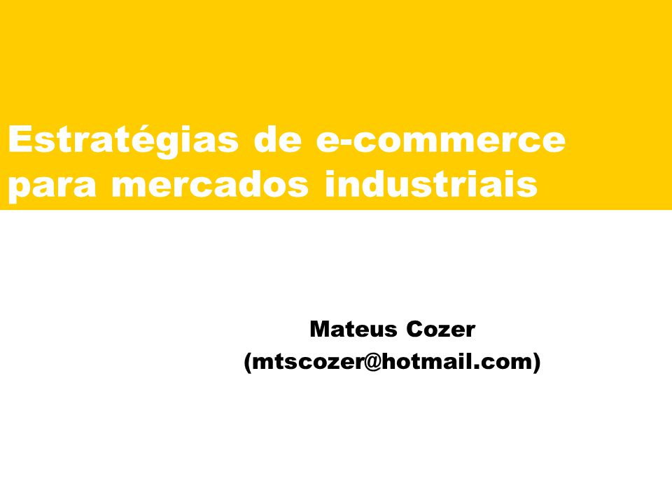 Estratégias de e-commerce para mercados industriais