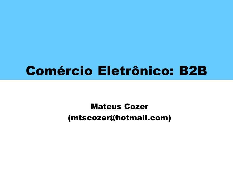 Comércio Eletrônico: B2B