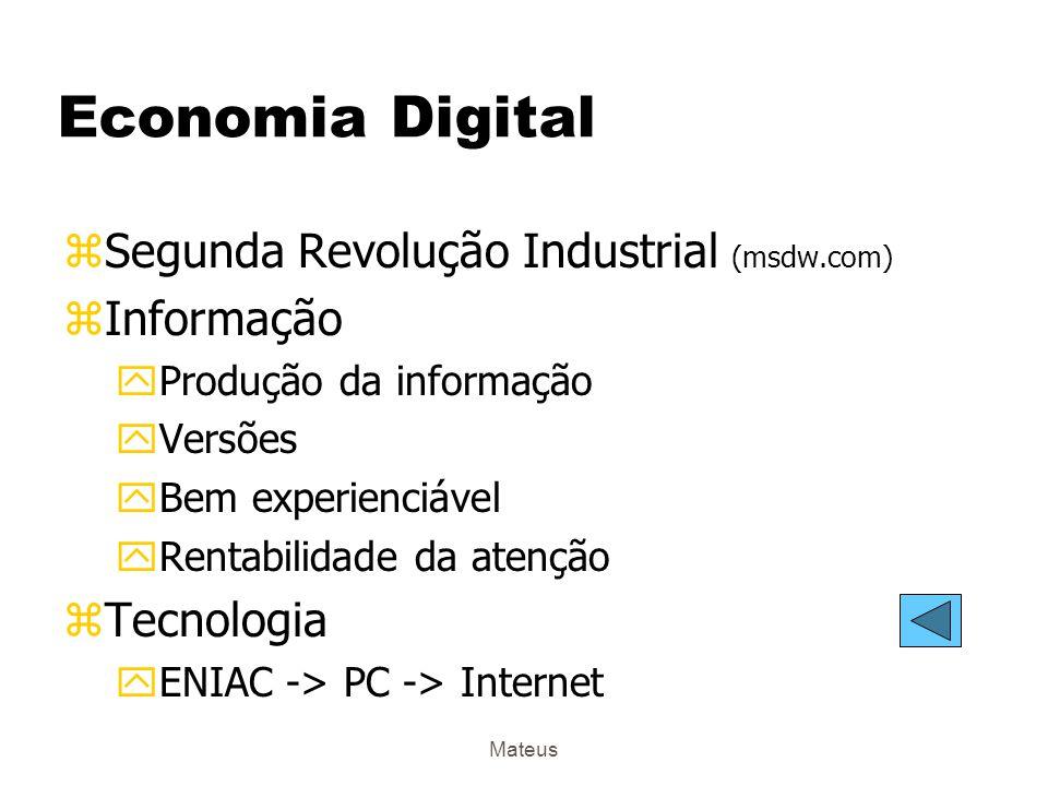 Economia Digital Segunda Revolução Industrial (msdw.com) Informação